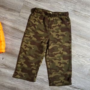 healthtex Matching Sets - 12 month outfit camo/neon orange